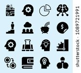 filled set of 16 business icons ... | Shutterstock .eps vector #1089721991