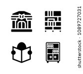 filled library icon set such as ... | Shutterstock .eps vector #1089727031