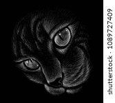 the vector logo cat for t... | Shutterstock .eps vector #1089727409