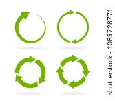 360 degree complete cycle... | Shutterstock .eps vector #1089728771
