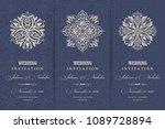 wedding invitation cards ... | Shutterstock .eps vector #1089728894