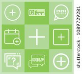outline buton icon set such as... | Shutterstock .eps vector #1089729281