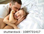 dad and daughter have fun at... | Shutterstock . vector #1089731417