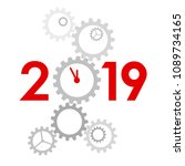 new year 2019 concept   digits... | Shutterstock .eps vector #1089734165