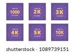 set of followers thank you... | Shutterstock .eps vector #1089739151