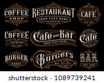 set of vintage lettering... | Shutterstock .eps vector #1089739241