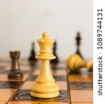 chess photographed on a...   Shutterstock . vector #1089744131