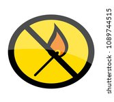 no smoking. no open flame. fire ... | Shutterstock .eps vector #1089744515