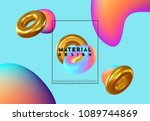 fashion art  abstract colorful... | Shutterstock .eps vector #1089744869