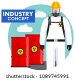 industry concept. detailed... | Shutterstock .eps vector #1089745991