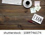 preparing for the exam. word...   Shutterstock . vector #1089746174