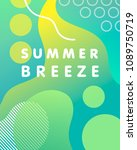 unique artistic design card  ...   Shutterstock .eps vector #1089750719