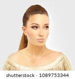 thread lift  markup | Shutterstock . vector #1089753344