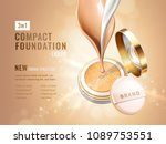 glamour compact foundation ads. ... | Shutterstock .eps vector #1089753551