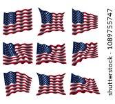 flag design template on white... | Shutterstock .eps vector #1089755747