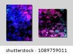 light pink  bluevector brochure ...