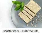 sunflower halva isolated on...   Shutterstock . vector #1089759881