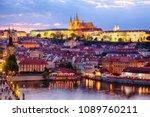 general view of prague castle... | Shutterstock . vector #1089760211