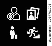 man related set of 4 icons such ...   Shutterstock .eps vector #1089761705