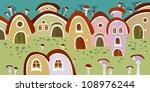 illustration of houses dwarfs | Shutterstock .eps vector #108976244