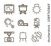 tools related set of 9 icons... | Shutterstock .eps vector #1089765869
