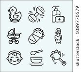 baby related set of 9 icons... | Shutterstock .eps vector #1089770579