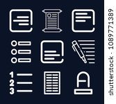 text icon set   outline... | Shutterstock .eps vector #1089771389
