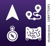 gps icon set   filled...   Shutterstock .eps vector #1089775391