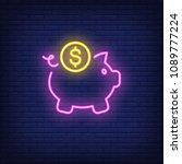 Piggy Bank With Dollar Coin....