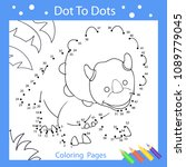 worksheets dot to dots with... | Shutterstock .eps vector #1089779045