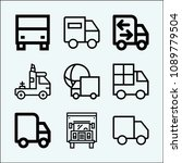 lorry related set of 9 icons... | Shutterstock .eps vector #1089779504