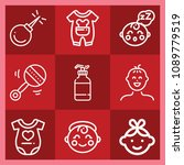 baby related set of 9 icons... | Shutterstock .eps vector #1089779519