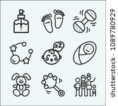 baby related set of 9 icons... | Shutterstock .eps vector #1089780929