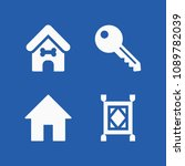 house related set of 4 icons... | Shutterstock .eps vector #1089782039