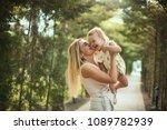 happy family  active mother... | Shutterstock . vector #1089782939