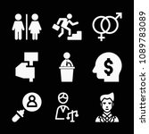 man related set of 9 icons such ...   Shutterstock .eps vector #1089783089