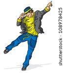 vector illustration dancing man ... | Shutterstock .eps vector #108978425