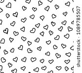 hand drawn seamless pattern.... | Shutterstock .eps vector #1089785507