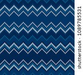 chevron abstract knitted... | Shutterstock .eps vector #1089785531