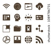 interface related set of 16... | Shutterstock .eps vector #1089786731