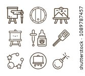 tool related set of 9 icons... | Shutterstock .eps vector #1089787457