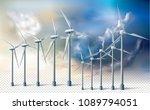 wind turbine generators ecology ... | Shutterstock .eps vector #1089794051
