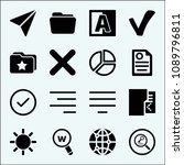 interface related set of 16... | Shutterstock .eps vector #1089796811