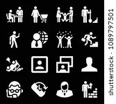 people related set of 16 icons...   Shutterstock .eps vector #1089797501