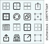 square related set of 16 icons... | Shutterstock .eps vector #1089797669