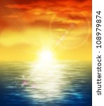 natural background with sunset... | Shutterstock .eps vector #108979874