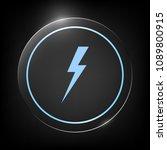 thunderstorm lightning icon | Shutterstock .eps vector #1089800915