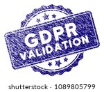 gdpr validation stamp seal.... | Shutterstock .eps vector #1089805799