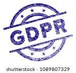 gdpr stamp seal. vector element ... | Shutterstock .eps vector #1089807329