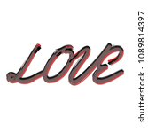 love template of calligraphic... | Shutterstock .eps vector #1089814397
